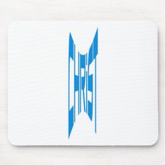 Christ haut bleu mouse pad