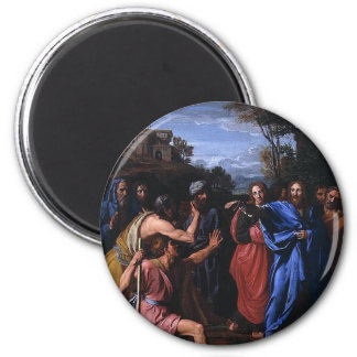 Christ Healing the Blind circa 1682 Magnet