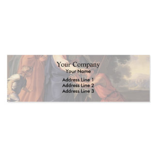 Christ Healing the Blind Man by Eustache Le Sueur Double-Sided Mini Business Cards (Pack Of 20)