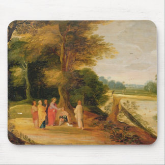 Christ Healing the Blind Man Mouse Pad