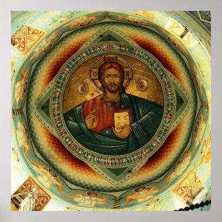 Christ Icon Hristos Pantocrator Poster