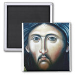 Christ Icon Magnet1 2 Inch Square Magnet