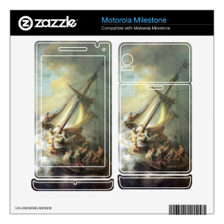 Christ in a storm on the sea of Galilee -Rembrandt Motorola Milestone Decal