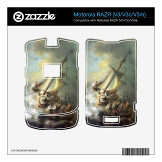 Christ in a storm on the sea of Galilee -Rembrandt Decals For Motorola RAZR