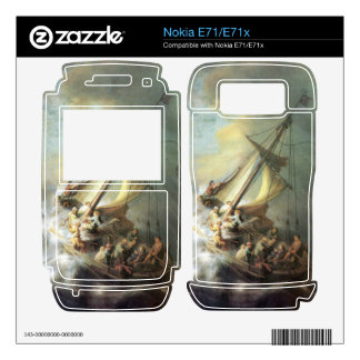 Christ in a storm on the sea of Galilee -Rembrandt Decal For Nokia E71