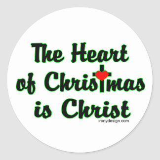 Christ in Christmas Classic Round Sticker