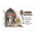Christ in Easter Church Window with Narcissus Post Card