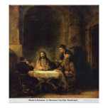 Christ In Emmaus  by Harmensz Van RijnRembrandt Posters