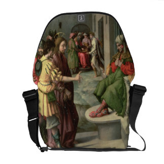 Christ in Front of Caiaphas, c.1535 (oil on panel) Courier Bag