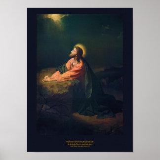 Christ in Gethsemane - Heinrich Hofmann 1890 Print