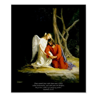 Christ in Gethsemane Masterpiece Giclee Painting Print