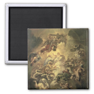 Christ in Glory 2 Inch Square Magnet