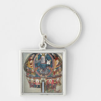 Christ in Glory 2 Silver-Colored Square Keychain