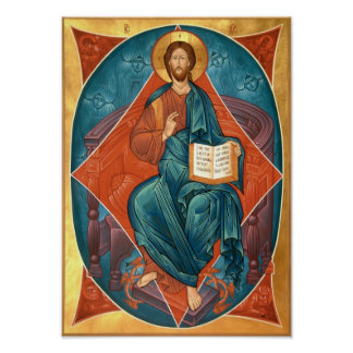 Christ in Glory Icon Poster