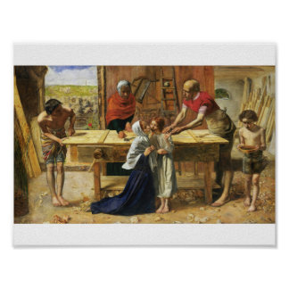 Christ in His Father's Carpenter Shop Poster