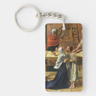 Christ in Joseph's Carpentry Shop Keychain