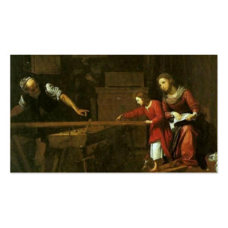 Christ in Joseph's workshop circa 1610-1625 Business Card Template