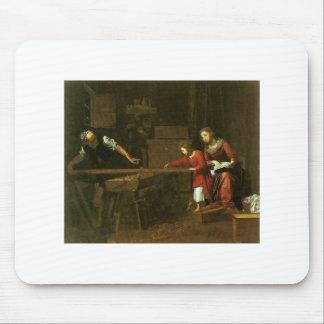 Christ in Joseph's workshop circa 1610-1625 Mouse Pad
