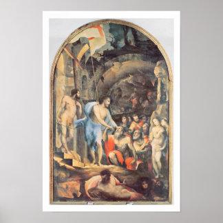 Christ in Limbo, c.1530-35 (panel) Poster