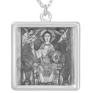 Christ in Majesty, from a Benedictional Square Pendant Necklace