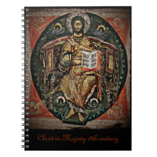 Christ in Majesty Icon 1780 Spiral Notebook