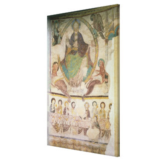 Christ in Majesty with Four Evangelical Symbols an Canvas Print