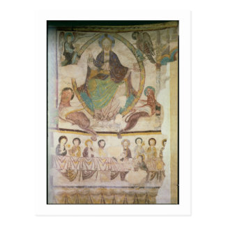 Christ in Majesty with Four Evangelical Symbols an Postcard