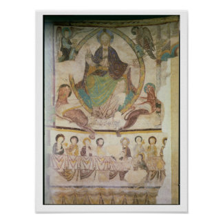 Christ in Majesty with Four Evangelical Symbols an Poster