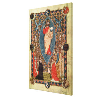 Christ in Majesty with Saints Canvas Print