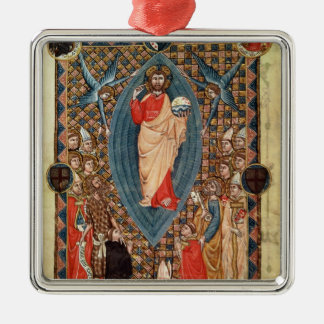 Christ in Majesty with Saints Metal Ornament
