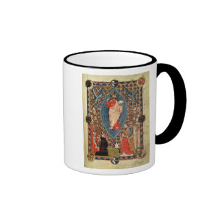 Christ in Majesty with Saints Ringer Coffee Mug
