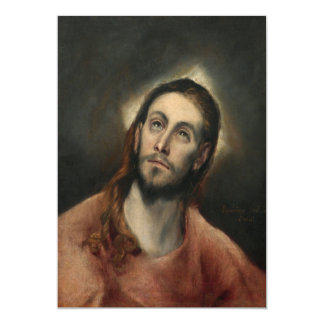 Christ in Prayer by El Greco Card