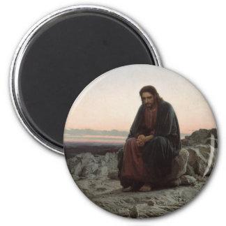 Christ in the Desert 2 Inch Round Magnet