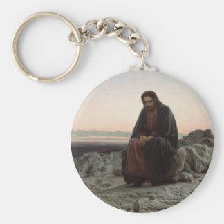 Christ in the Desert Basic Round Button Keychain