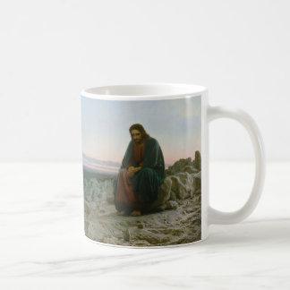 Christ in the Desert by Ivan Nikolaevich Kramskoi Classic White Coffee Mug
