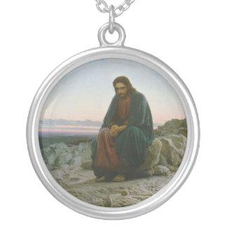 Christ in the Desert by Ivan Nikolaevich Kramskoi Necklaces