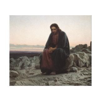 Christ in the Desert Canvas Print