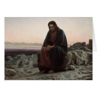 Christ in the Desert Card