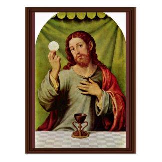 Christ In The Eucharist By Juanes Juan De (Best Qu Postcards