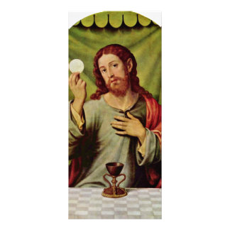 Christ In The Eucharist By Juanes Juan De (Best Qu Personalized Rack Card