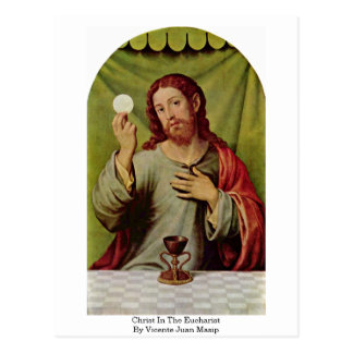 Christ In The Eucharist By Vicente Juan Masip Postcard