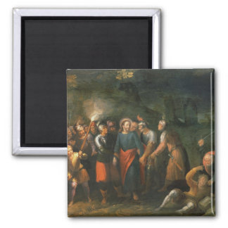 Christ in the Garden of Gethsemane 2 Inch Square Magnet