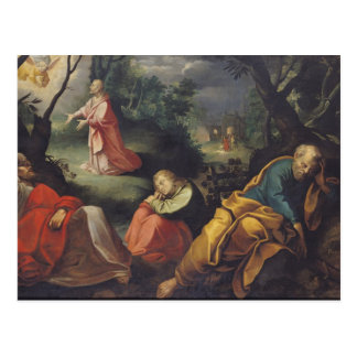 Christ in the Garden of Olives, 1625 Postcard