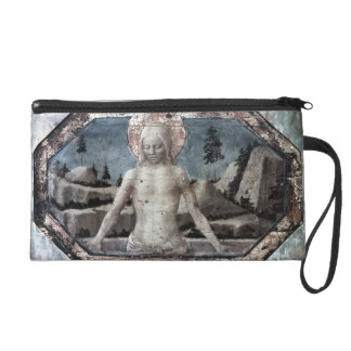 Christ in the grave by Jacopo Bellini Wristlets