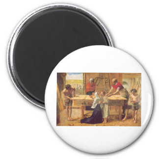 Christ In the House of His Parents 2 Inch Round Magnet