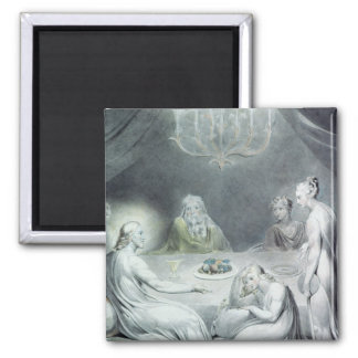 Christ in the House of Martha and Mary 2 Inch Square Magnet
