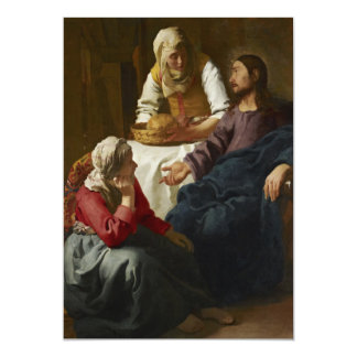 Christ in the House of Martha and Mary by Vermeer Card
