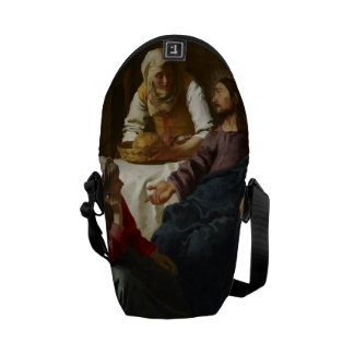 Christ in the House of Martha and Mary by Vermeer Messenger Bag