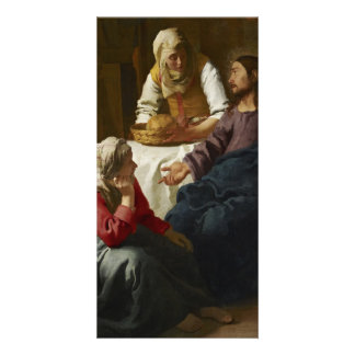 Christ in the House of Martha and Mary by Vermeer Customized Photo Card