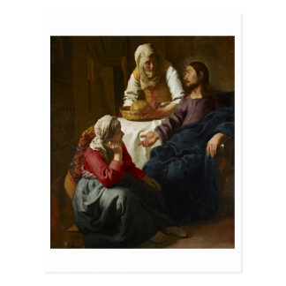 Christ in the House of Martha and Mary by Vermeer Post Card